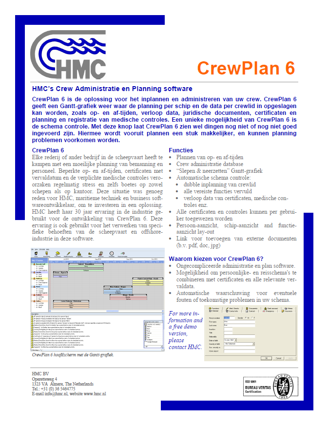 CrewPlan 6 flyer