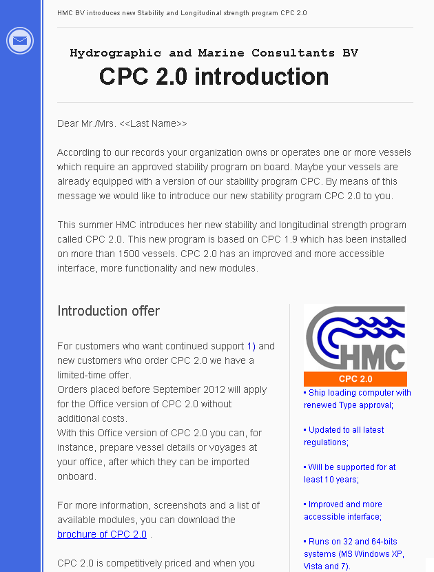 CPC 2.0 introduction to Shipowners