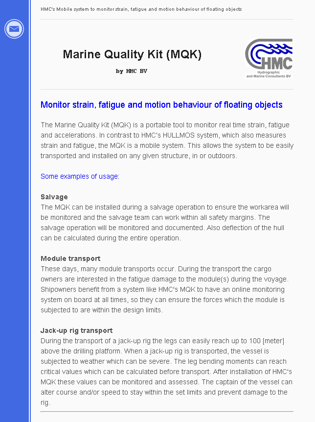 Marine Quality Kit (MQK)