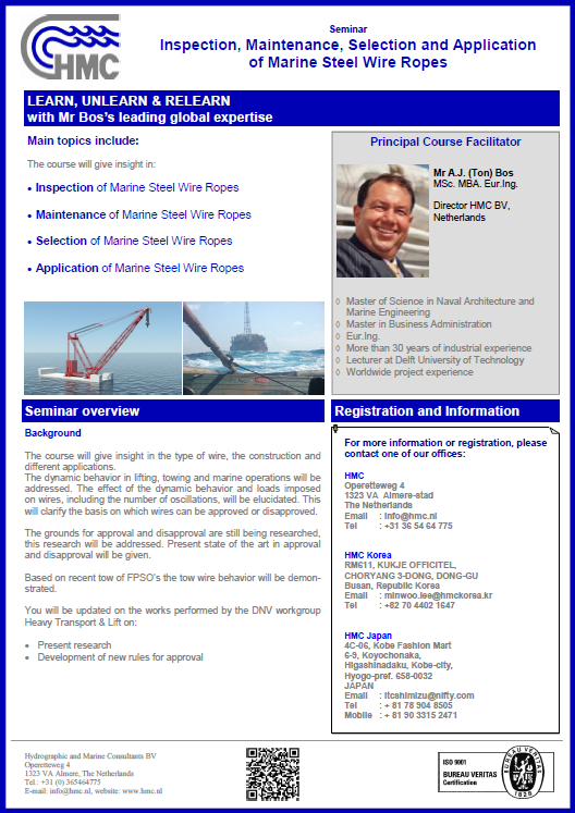 Brochure Seminar Inspect Maint Select and Applic of Marine Steel Wire - EN