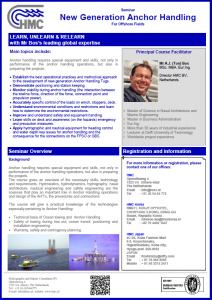 Brochure Seminar New Generation Anchor Handling - EN