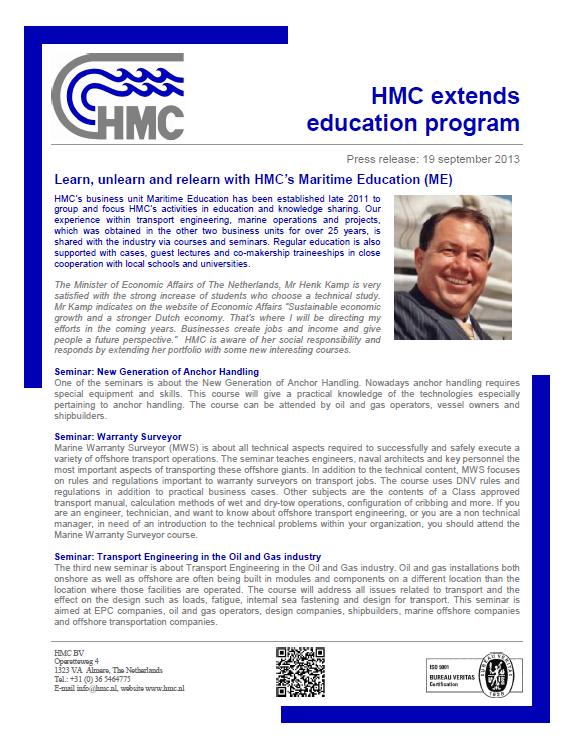 ME HMC Seminar Overview